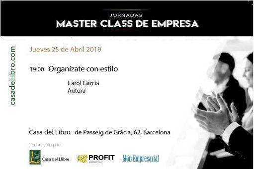 Foto Masterclass sant Jordi 2019