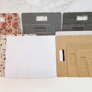 conjunto tablas de doblado de ropa